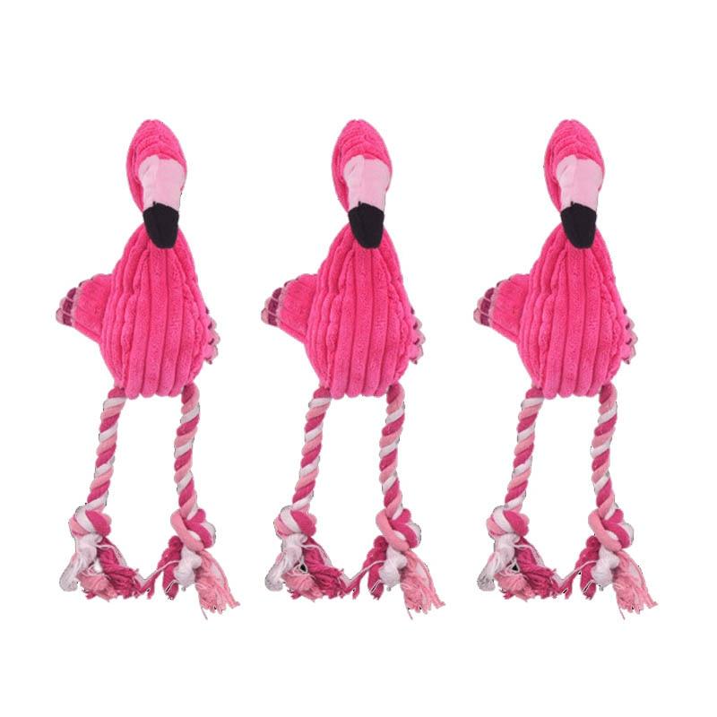 Чистки зубов скрипучий интерактивные игрушки мультфильм животное, фламинго, в форме хлопковая верёвка собачья игрушка товары для дрессировки домашних животных жевательные игрушки для питомцев 1 шт.-0