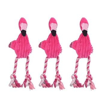 Чистки зубов скрипучий интерактивные игрушки мультфильм животное, фламинго, в форме хлопковая верёвка собачья игрушка товары для дрессировки домашних животных жевательные игрушки для питомцев 1 шт.