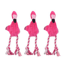 Dog-Toy Pet-Chew-Toys Pet-Training-Products Cotton-Rope Flamingo-Shaped Animal Cleaning
