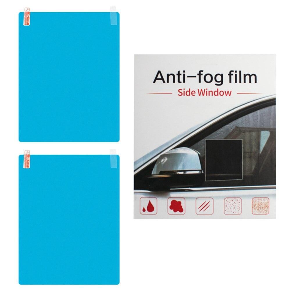 2 шт защита от дождя и боковое окно Стекло пленка для автомобиля, боковое окно из полиуретана на пленка анти-туман непромокаемые плёнка авто ...
