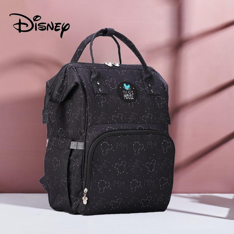Disney Mochila Maternidade sacs à couches imperméables   Sac à dos d'alimentation de bouteille USB sac de voyage pour bébé, sacs de rangement pour maman sacs pour maman