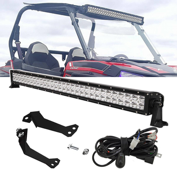 30 inches 180W Straight LED Light Bar Spot with Wiring Kit and Below Roof Mounting Bracket For Polaris RZR XP 1000 900 Models