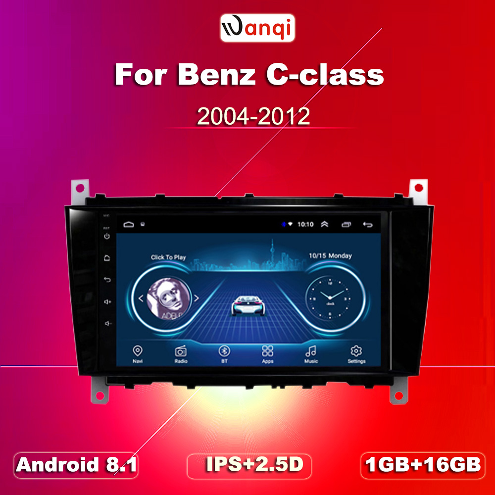 wanqi <font><b>Android</b></font> 8.1 Car GPS Navigation For Benz C-Class <font><b>W203</b></font> (2004 2005 2006 2007) CLC G Class W467 (2008-2011) CD Player NO DVD image