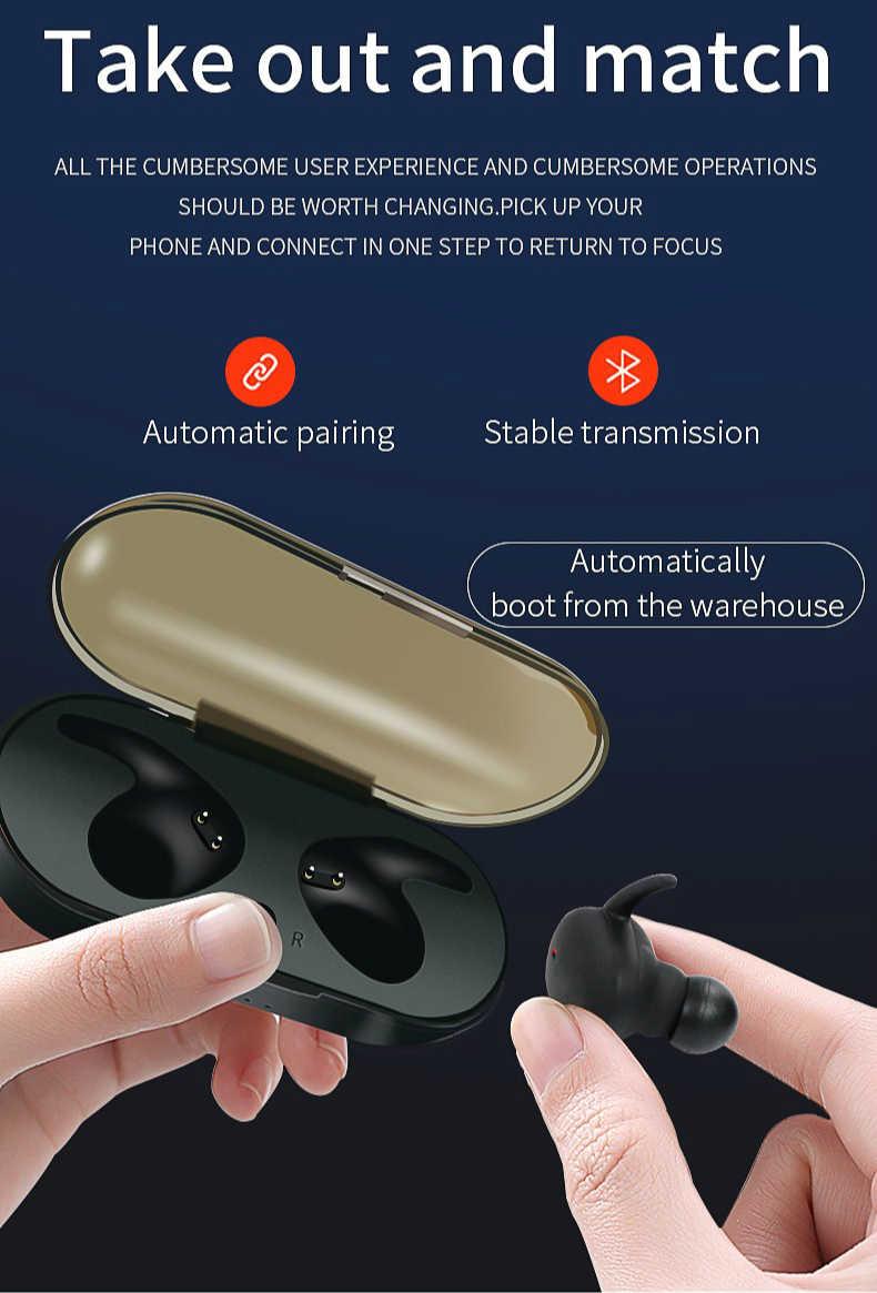2019 MINGGE TWS4 ワイヤレスヘッドフォン Bluetooth インテリジェントタッチ高品質スピーカーマイクステレオ android と iphone のため
