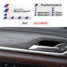 1 шт., автомобильная наклейка для Bmw M Performance Power, наклейка для Bmw M X1 X3 X4 X5 X6 X7 E46 E90 F20 E60 E39 F10 F30, автомобильные аксессуары