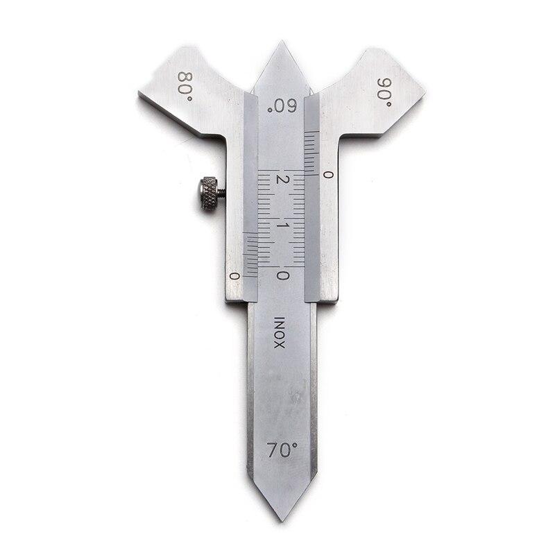 Top-0-20Mm Steel Digital Welding Seam Measure Vernier Weld Gauge Weld Inspection Ruler 60 70 80 90 Degree Angle Measure