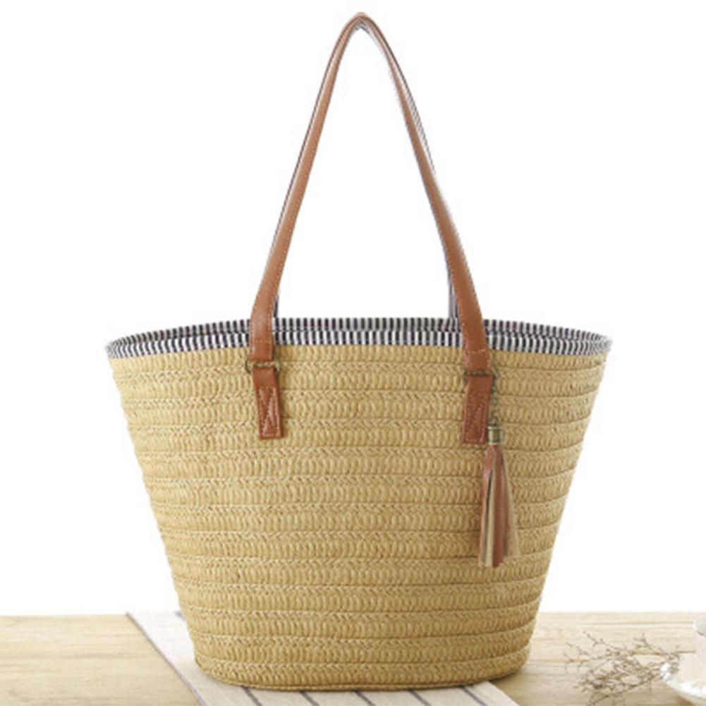 Кисточкой соломенная сумка женские сумки через плечо сумки плетеная лоза женские сумки ручной работы летние пляжные ротанга сумка женская ...