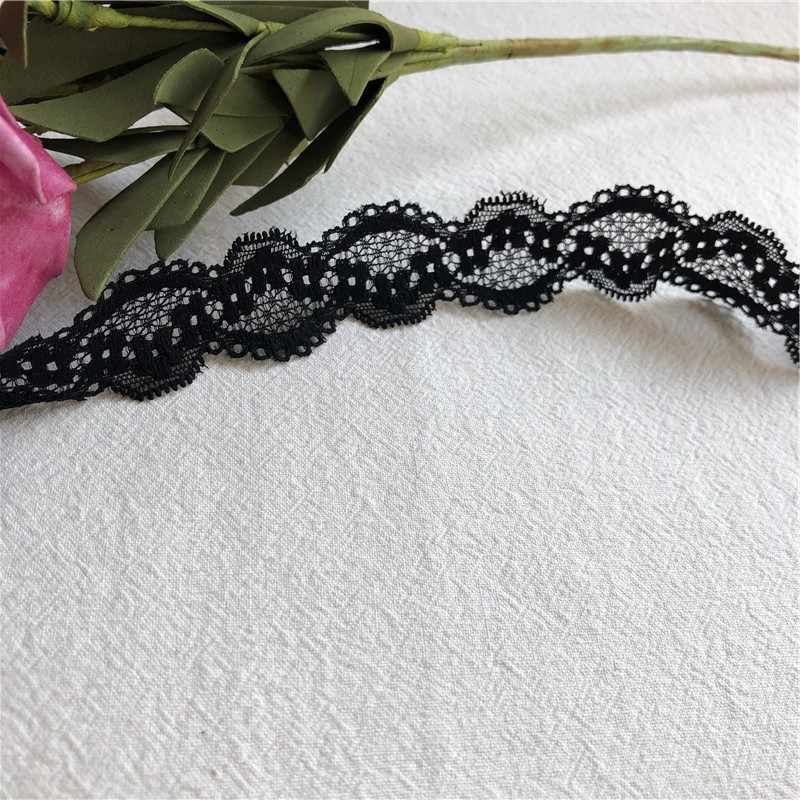 À fleurs S1992 siyah chaud | broderie çözünür dans l'eau, ruban, bricolage, aplikler et col, gipür dökün elbise artisanale, dé