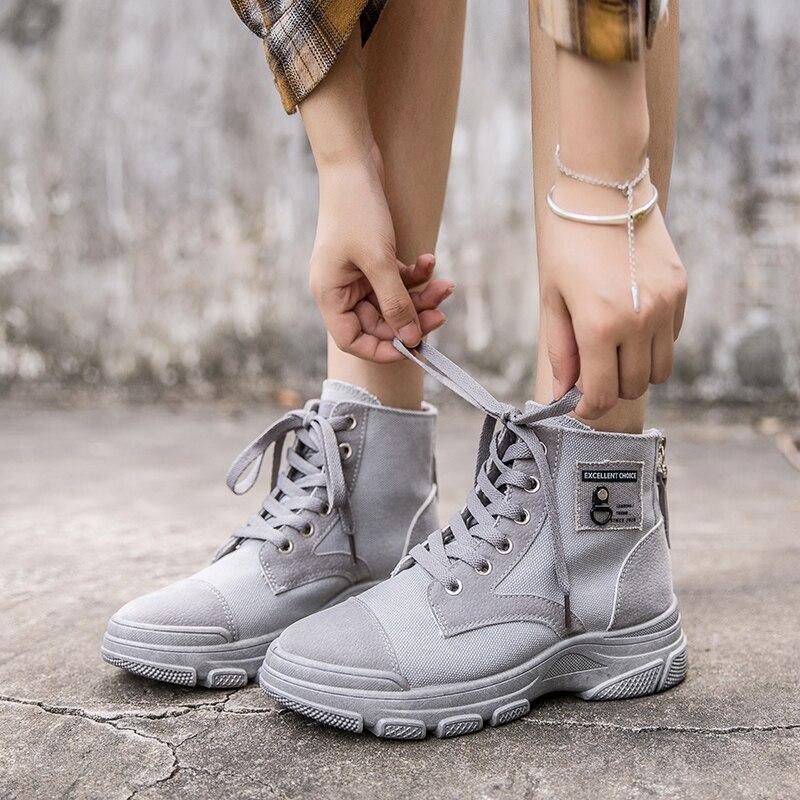 Новинка Весна 2020, Новая женская модная обувь, Осенние удобные кожаные ботинки Martin, женские ботильоны на толстой подошве, Женский скутер|Полусапожки| | АлиЭкспресс