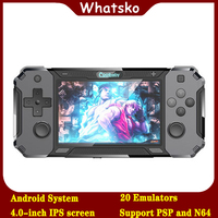 Whatko rs 3128 Android 5.0 open source operating system handheld video game console 4.0 inch IPS Sreen