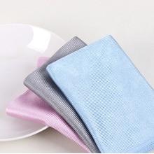 Не оставляющее следов, впитывающее мягкое полотенце из микрофибры без ворса, тряпка для мытья автомобиля, для кухни, протирки окон, 3 размера