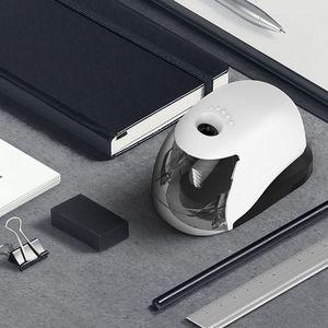 Image 3 - USB elektrikli kalemtıraş basit iş tarzı otomatik bileme masaüstü okul ofis malzemeleri