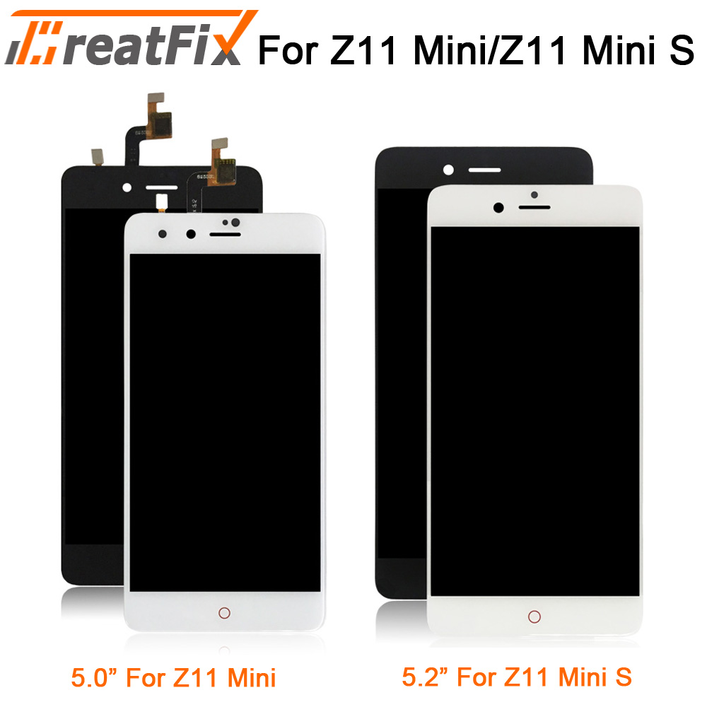 Original For <font><b>ZTE</b></font> <font><b>Nubia</b></font> NX549J <font><b>Z11</b></font> <font><b>Mini</b></font> s LCD Display <font><b>Touch</b></font> Panel <font><b>Screen</b></font> Digitizer Assembly with Frame For <font><b>Z11</b></font> <font><b>mini</b></font> nx529j image