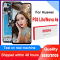 100% тестирование 2312*1080 дисплея Замена для Huawei P30 Lite/Nova/4e ЖК-дисплей с сенсорным экраном дигитайзер в сборе MAR-LX1 LX2 AL01