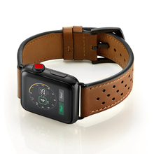 Brown Leather WatchBand Strap For Iwatch 38mm 44mm , VIOTOO Genuine Watch Band Appl watch Series 4 3 2 1