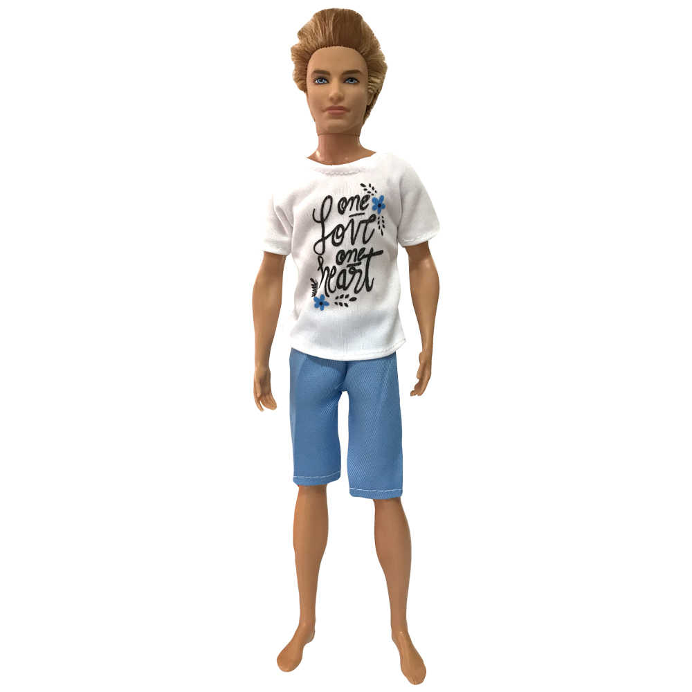 NK NEWEST Prince Ken Doll Clothes Fashion Suit Cool Outfit For Barbie Boy KEN Doll Children's Birthday Presents Gift 025A 9X
