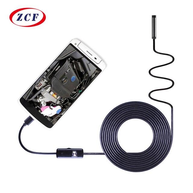 AN97 Pc アンドロイド内視鏡 HD720P 8 ミリメートルレンズ 6LED 1 メートル/1.5 メートル/2 メートル/3.5 メートル /5 メートル/10 メートルのケーブル防水検査ボアスコープ Android 携帯用 PC