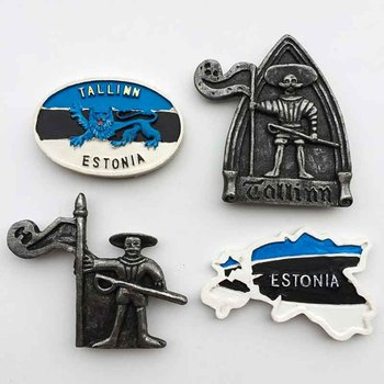 Tallinn Estonia fridge magnets tourist souvenir 3D Resin Crafts Magnetic Refrigerator Stickers Collection Decoration Gifts недорого