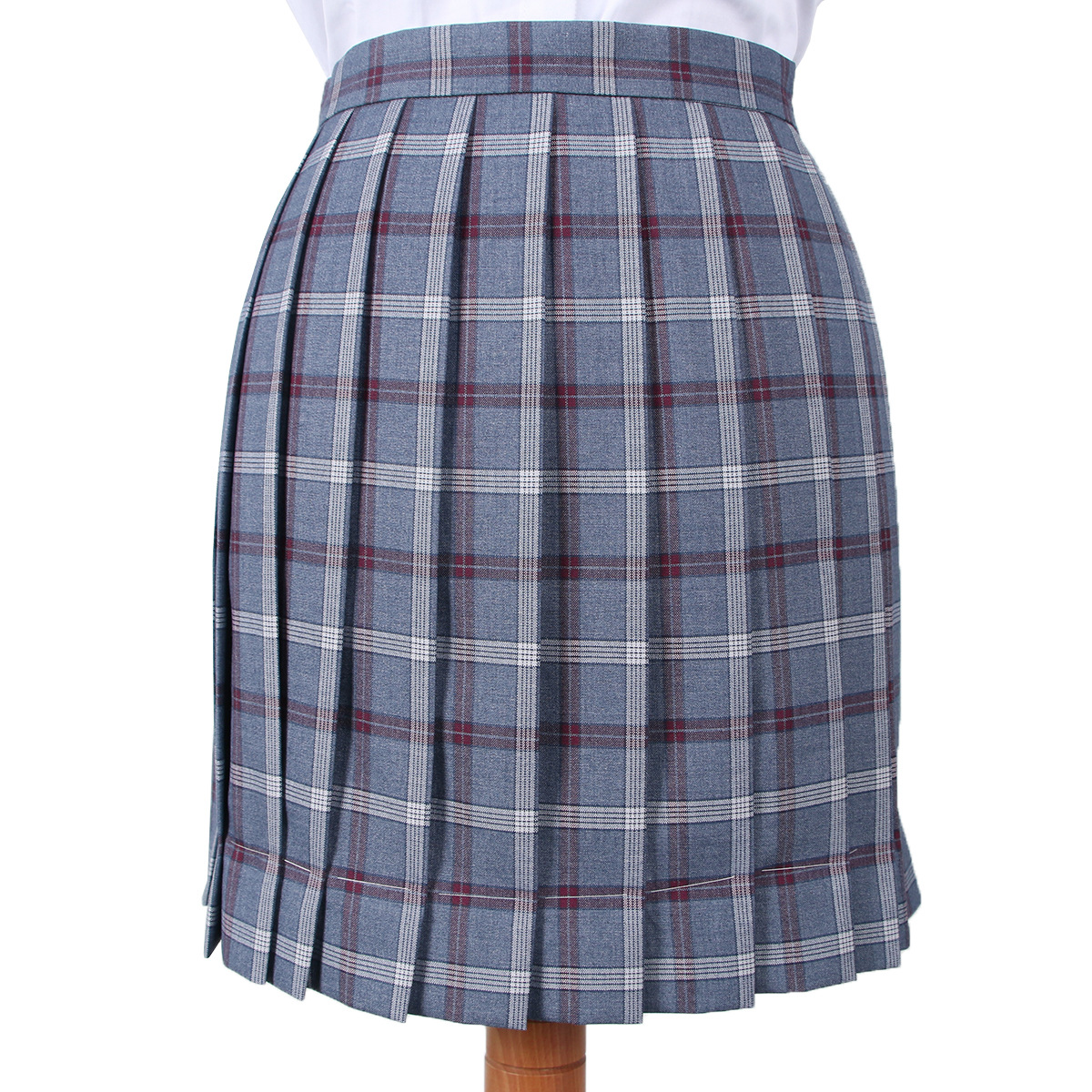 School Dresses Pleated Skirt School Blue-gray-red Plaid Pleated Half Skirt School Uniform Mini Skirts Sailor Suit Short Skirt