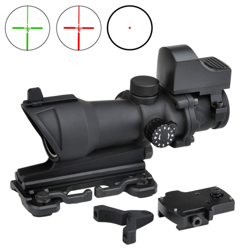 AIM Airsoft Tactical Scopes ACOG 4X32 Red Green Dot Sight Reddot Optic Sight Air Gun Rifle Scope Hunting Riflescope AO5321