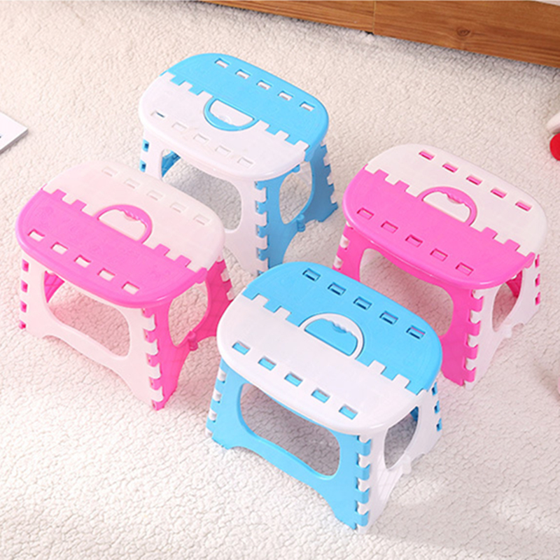 Children's Stools Plastic Multi Purpose Folding Stool Home Shoe Bench Living Room Small Seat Outdoor Portable Storage Camp Stool