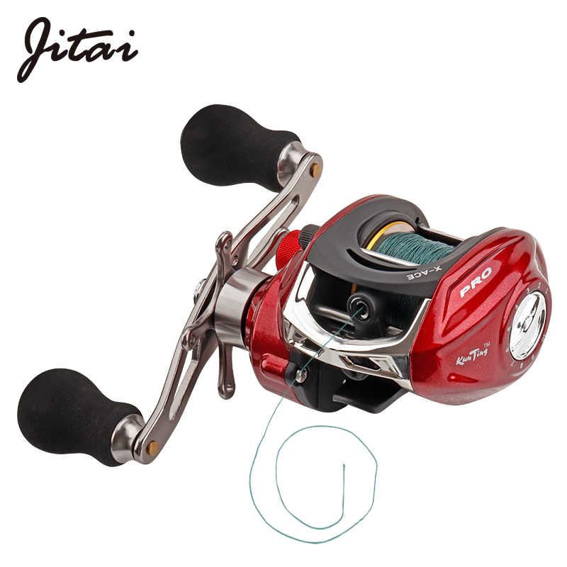 JITAI Baitcasting Carretel De Pesca Equipado PE 4 vertentes linha 8Kg Potência de Freio 14 + 1BBs Qualidade Ultra Leve Rodas Rodas Carpa Isca de pesca