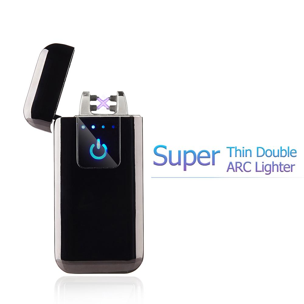 Super Thin Electronic Lighter Plasma USB Lighter For Cigarette Smoking Can Engrave Logo