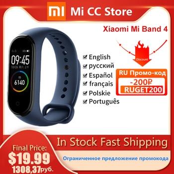 In Stock Xiaomi Mi Band 4 AMOLED Screen Heart Rate Fitness Tracker Miband 4 Bluetooth5.0 Waterproof 5 color Smart Sport Bracelet 1