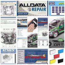 2020 todos os dados software de reparação automática alldata 10.53 + mit/chell od5 software 2015v + vívido oficina dados atsg 24in1 1tb hdd usb3.0
