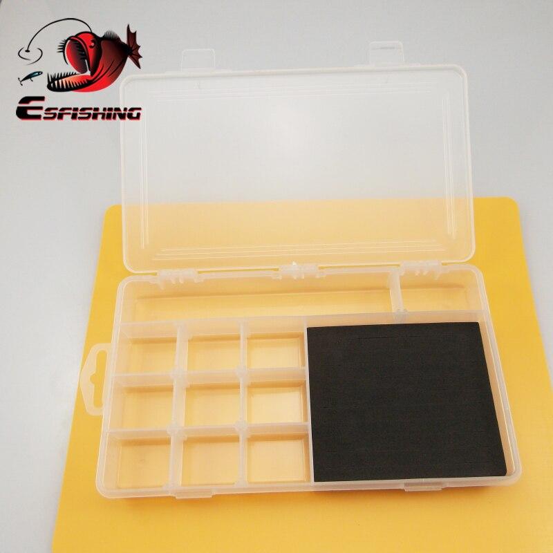 ESFISHING Mini boîtes de matériel de pêche crochet mallette de rangement compartiments boîte leurres de poisson support de rangement en plastique accessoires de pêche