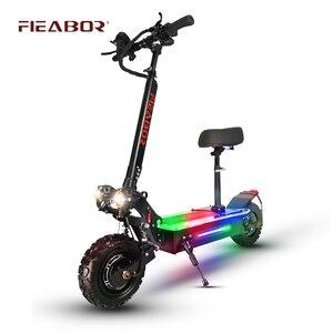 Электрический скутер для взрослых, двойной мотор, Электрический скутер, 11 дюймов, внедорожные шины, быстрая скорость 60 в 5600 Вт|Электрические самокаты|   | АлиЭкспресс