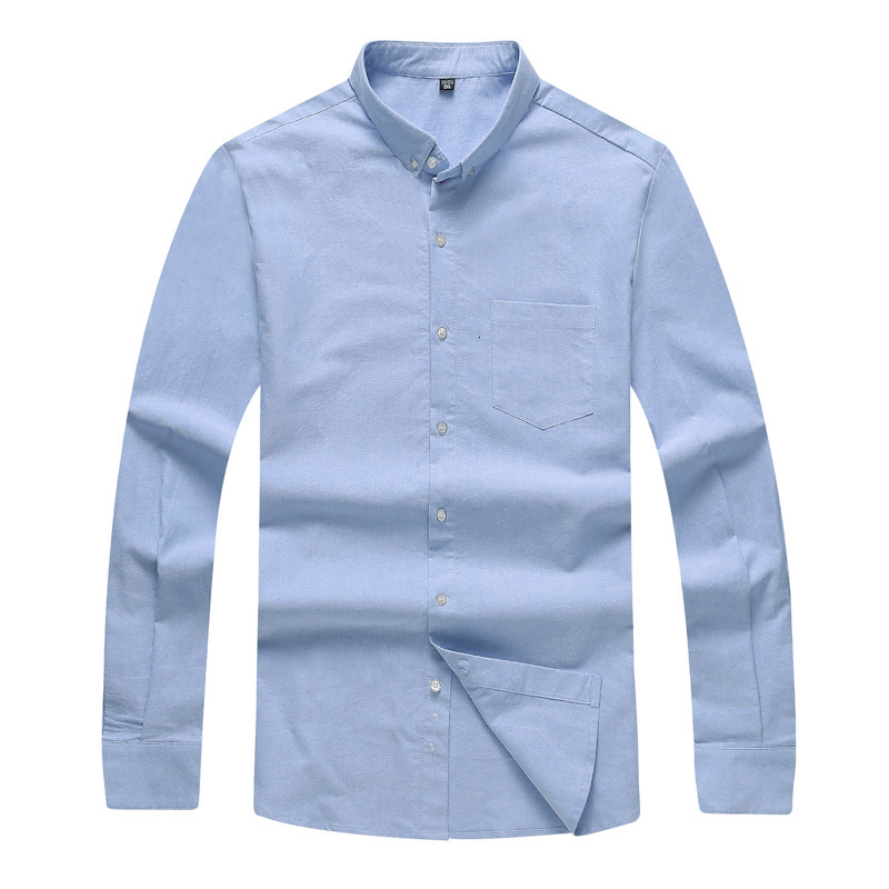 Big Plus Size 8XL 7XL 6XL 5XL Men Dress Shirt Spring And Autumn Arrival Button Down Collar Long Sleeve Mens Business Shirts