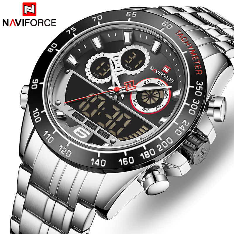 NAVIFORCE Men Watch Waterproof Sports Men's Quartz Wrist Watches Waterproof Stainless Steel Date Male Clock Relogio Masculino|Quartz Watches| - AliExpress