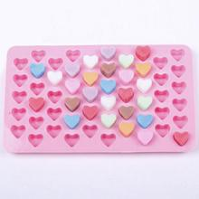 1 Цвета 55 сердце силиконовой торт, шоколадное печенье для выпечки торта создатель прессформы мыла прессформы прессформа шоколада подноса К...
