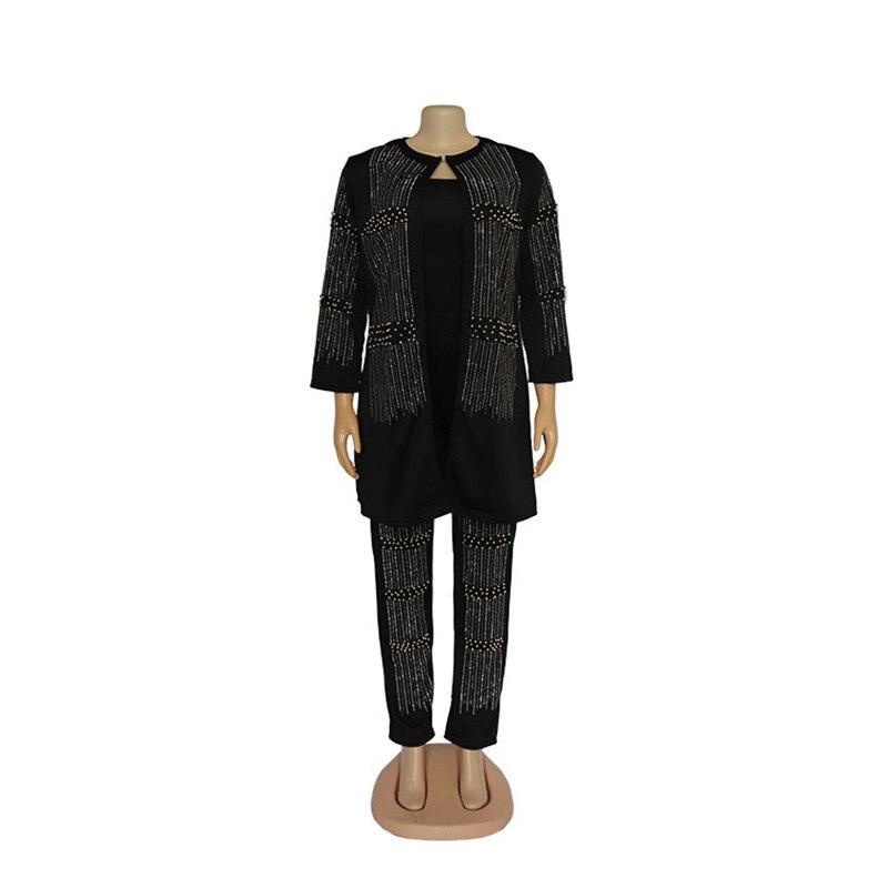 strass africano contas terno superior jaquetas calças