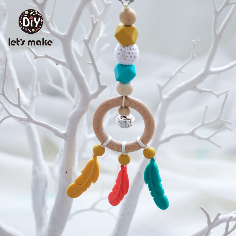Baby Toys Feather-Bell Musical Crib Children's-Toys Silicone Rattle Mobile-On-The-Bed