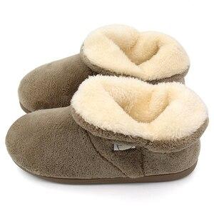 Image 5 - Winter Warm Faux Fur Laarzen Mid kalf Laarzen Indoor Schoenen Vrouwen Mannen Koppels Liefhebbers Zachte Pluche Puppy Thuis laarzen Botas Mujer