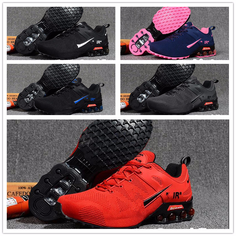2020 Unisex Shoes NZ Blue Red White Black Pink Gold R4 809 Shox OZ  Athletic Sneakers Sports Running Shoes Size 36-45