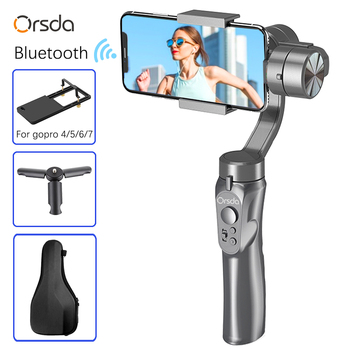 Orsda Stabilizer Gimbal 3-Axis Smartphone Action Gopro Camera PTZ Handheld Stabilizer cellphone For Phone Xs Xr X 8 Plus 11 feiyutech feiyu g6 max 3 axis handheld camera gimbal stabilizer for rx100ⅳ for gopro hero 7 6 5 smartphone for canon eosm50