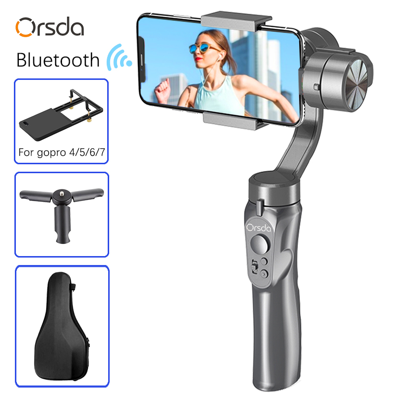 Orsda Stabilizer Gimbal 3-Axis Smartphone Action Gopro Camera PTZ Handheld Stabilizer cellphone For Phone Xs Xr X 8 Plus 11