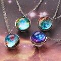 DOTIFI для женщин, Вселенная, планета, Двусторонняя подвеска, ожерелья, стеклянная картина, ручная работа, ожерелье, ювелирные изделия