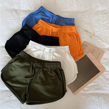 Women's Summer Wide Leg Shorts Casual All-match Loose Hot Short Pant Female 2020 High Waist Fashion Lady Workout Stretch Shorts
