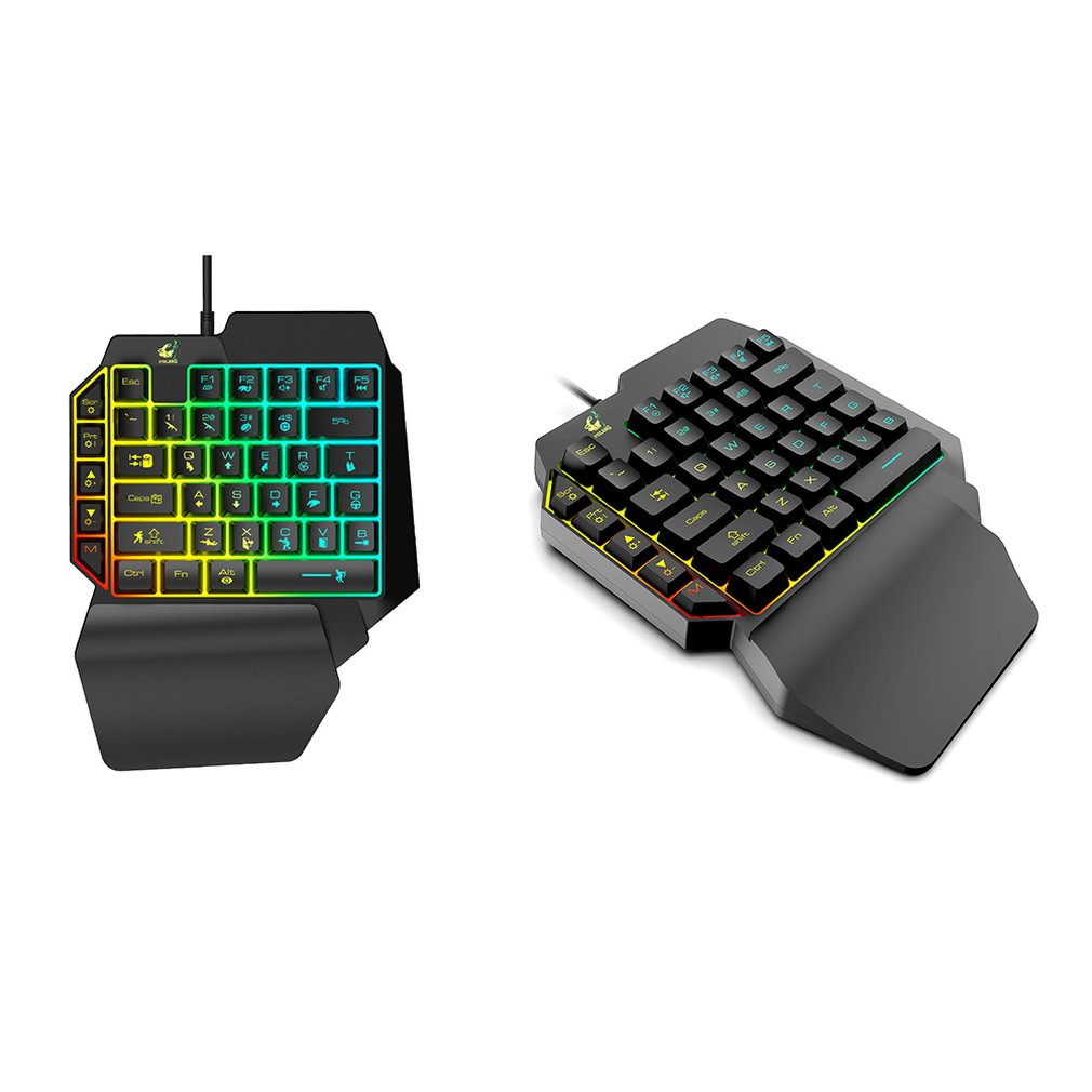 Waterproof Left Hand Colorful One Handed Keyboard God Throne Left Hand Mechanical Feel Game Keyboard