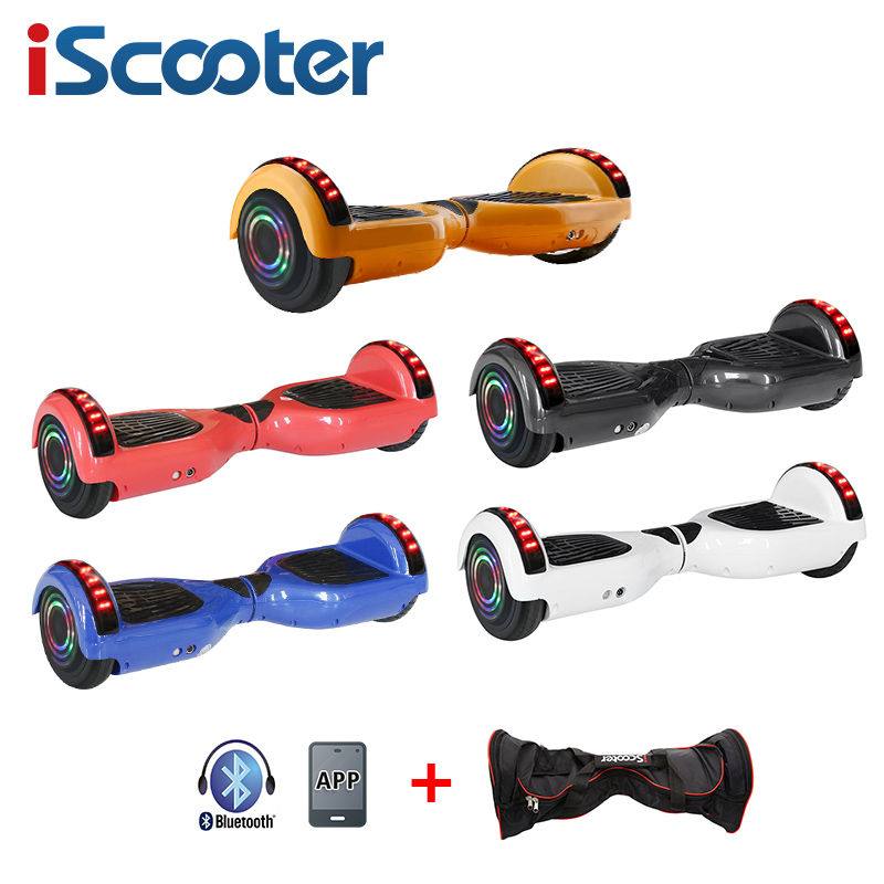 6,5 Zoll Elektrische Roller Smart Hoverboard Bluetooth App Control Zwei Rädern Selbst Balance Roller Hover <font><b>Board</b></font> image