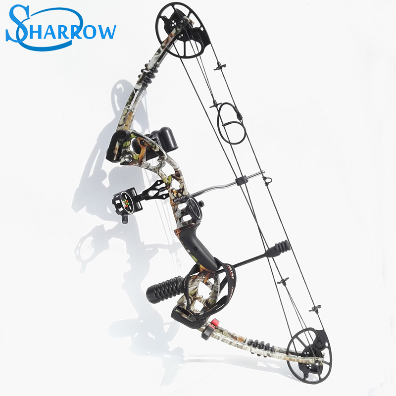 1Set Junxing M125 Archery Compound Bow Camo Arrows Aviation Aluminum With 30-70lbs Adjustable Draw Weight For Shooting Hunting