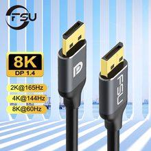 Displayport 1.4 cabo 8k 4k hdr 165hz 60hz expositor porto cabo dp para dp cabo para samsung vídeo computador portátil tv dp 1.2 8k dp cabo