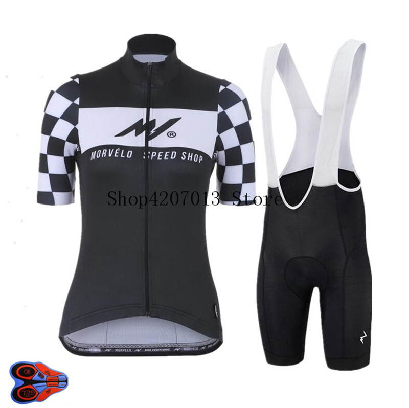 2019 TEAM morvelo 9D bike womens cycling jersey bibs shorts suit Ropa Ciclismo women summer quick dry bicycling Maillot wear Cycling Sets     - title=