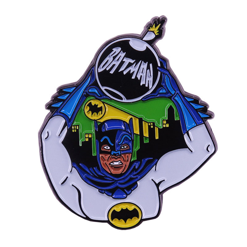 DC Comics Superhero Batman Bomb Brooch and Enamel Pin Adam West Battle Lapel Pin