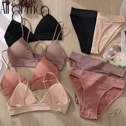 Bra Set Women's Underwear Push Up Bras Sexy Bralette Seamless Brassiere Gather Padded Female Wirefree Intimates Lingerie 2/3PCS