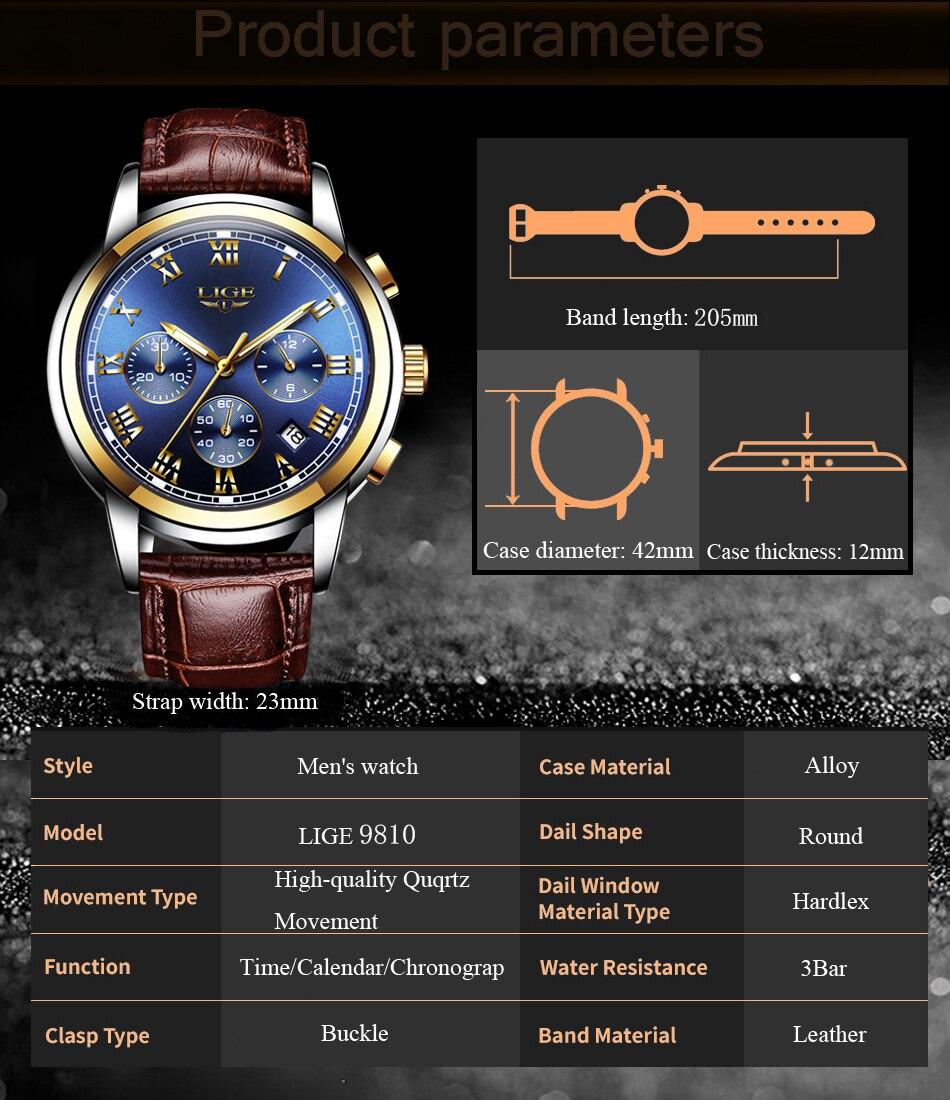 H7ab16168bc714b0fb7de15163148e4109 Watches Mens 2019 LIGE Top Brand Luxury Green Fashion Chronograph Male Sport Waterproof All Steel Quartz Clock Relogio Masculino